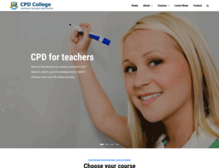 international.cpdcollege.com screenshot