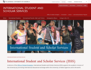international.cua.edu screenshot