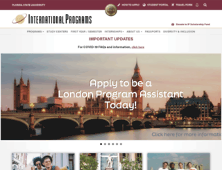 international.fsu.edu screenshot