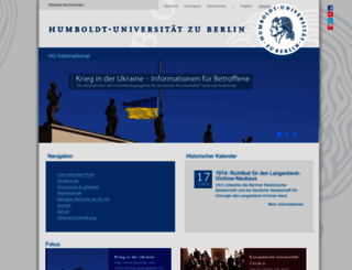 international.hu-berlin.de screenshot