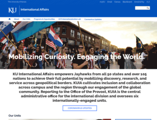 international.ku.edu screenshot