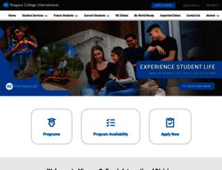 international.niagaracollege.ca screenshot