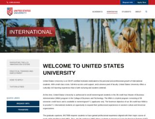 international.usuniversity.edu screenshot
