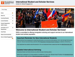 international.utk.edu screenshot