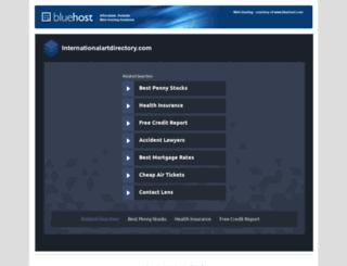 internationalartdirectory.com screenshot