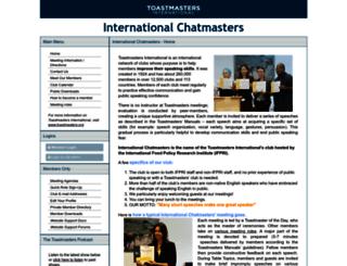 internationalchatmasters.toastmastersclubs.org screenshot