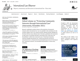 internationallawobserver.eu screenshot