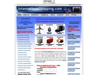 internationalshipping.com screenshot