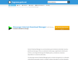 internet-download-manager.programas-gratis.net screenshot
