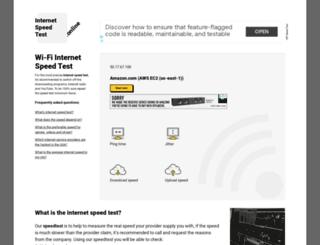 internet-speed-test.online screenshot