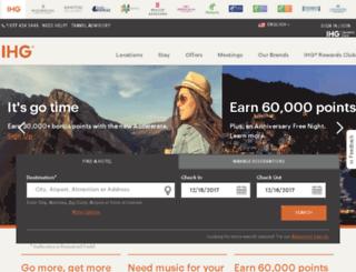 internet.holidayinn.com screenshot
