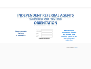 internetreferralagent.weebly.com screenshot
