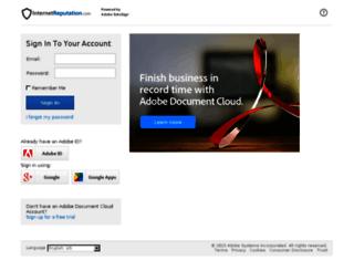 internetreputation.echosign.com screenshot