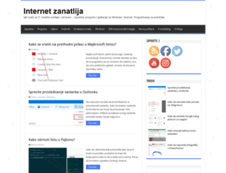 internetzanatlija.com screenshot