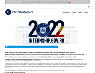 internship.gov.ro screenshot