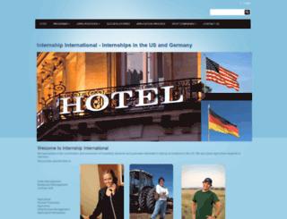 internshipinternational.com screenshot
