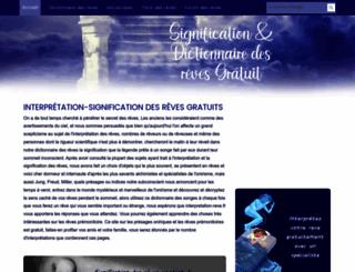 interpretation-reve.fr screenshot