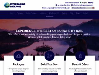 interrailingpackages.com screenshot