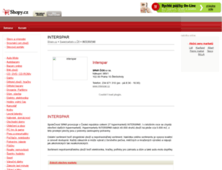 interspar.shopy.cz screenshot
