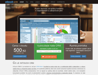 intouch-crm.cz screenshot
