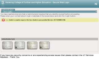 intranet.havering-college.ac.uk screenshot