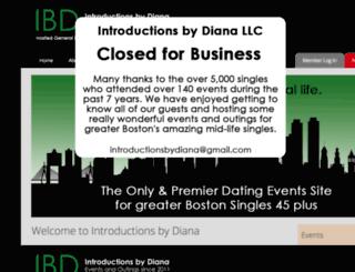 introductionsbydiana.com screenshot