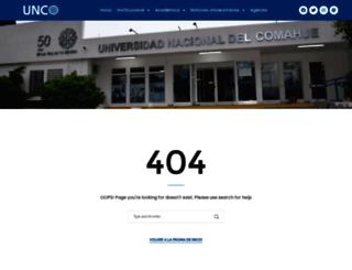 investigadores.uncoma.edu.ar screenshot