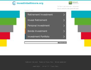 investinbaltimore.org screenshot