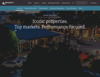 investing.macerich.com screenshot