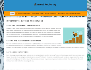 investkootenay.com screenshot