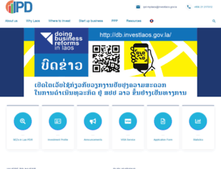 investlaos.gov.la screenshot