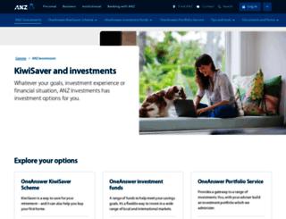 investments.anz.co.nz screenshot