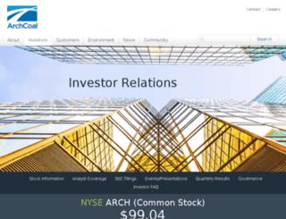 investor.archcoal.com screenshot