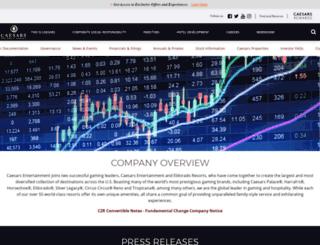 investor.caesars.com screenshot