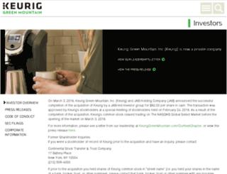 investor.gmcr.com screenshot