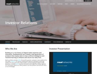 investor.realnetworks.com screenshot