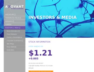 investors.axovant.com screenshot