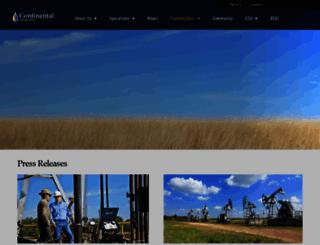 investors.clr.com screenshot