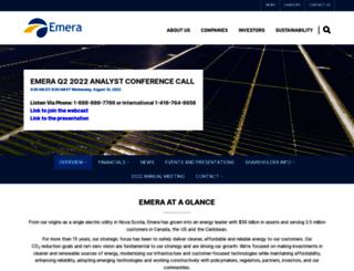 investors.emera.com screenshot