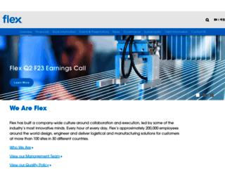 investors.flextronics.com screenshot