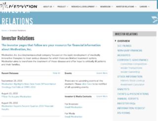 investors.medivation.com screenshot