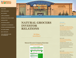 investors.naturalgrocers.com screenshot