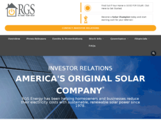 investors.rgsenergy.com screenshot