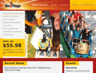 investors.sixflags.com screenshot