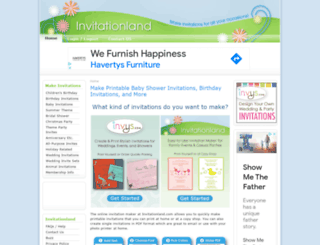 invitationland.com screenshot