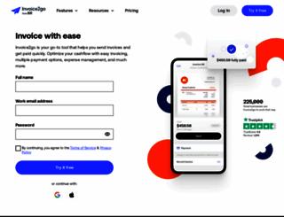 invoice2go.com screenshot