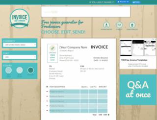 invoiceatonce.com screenshot