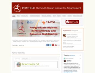 inyathelo.org screenshot