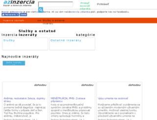 inzercia-sluzby.azinzercia.sk screenshot