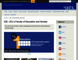 ioe.ac.uk screenshot